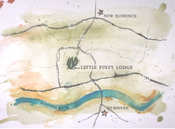 Stephanie and Barnaby map